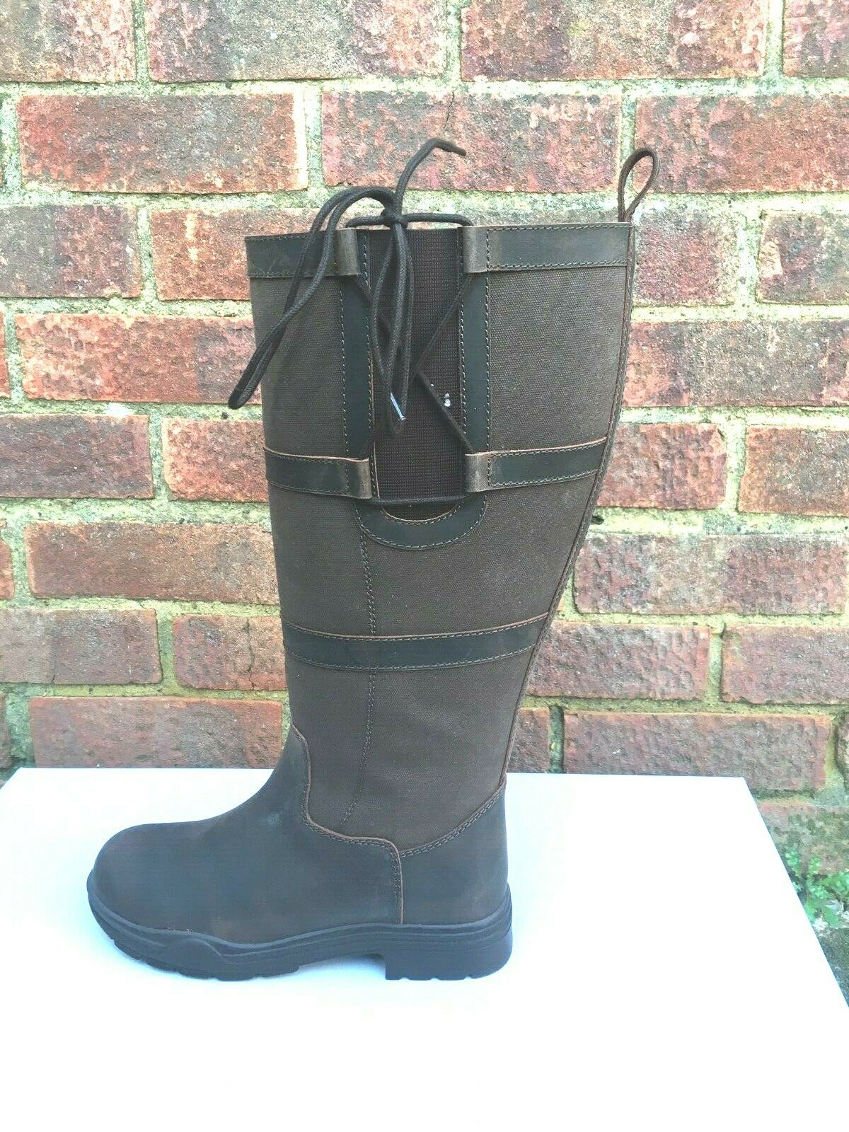 Polestar Country//Riding Boots Long//Walking Leather Horse Waterproof UK 5//38