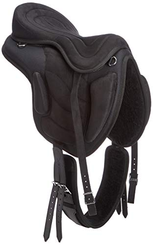 Cwell Equine New Synthetic All Purpose Treeless Saddle BLACK Sizes  16